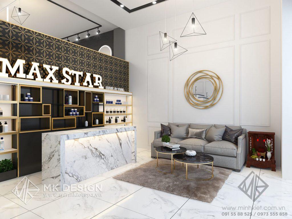 Thiết kế nội thất Hair Salon Maxstar Nguyễn Ngọc Vũ