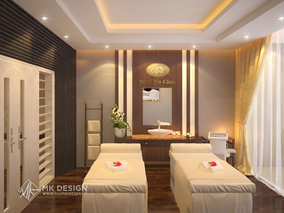 Thiết kế Spa Seoul & Clinic - Mẫu Thiết Kế Spa Sang Trọng, Hiện Đại