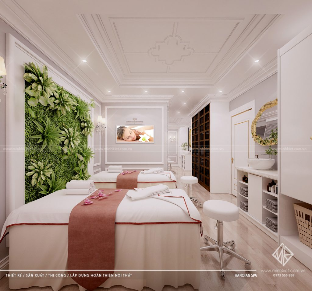 Công ty thiết kế thi công nội thất spa trọn gói tại Hà Nội - Minh Kiệt Design