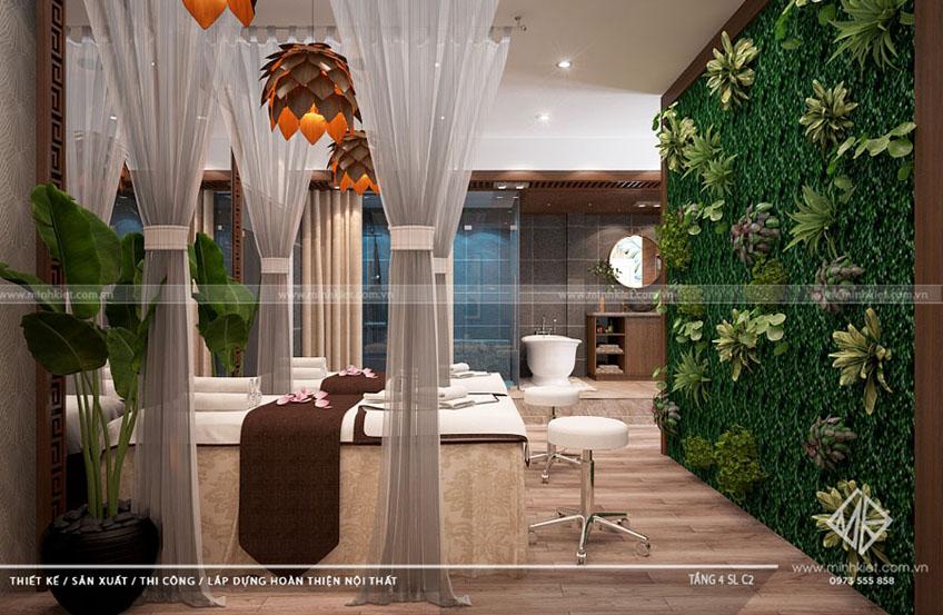 Thiết kế thẩm mỹ viện mai thủy spa theo phong cách hiện đại