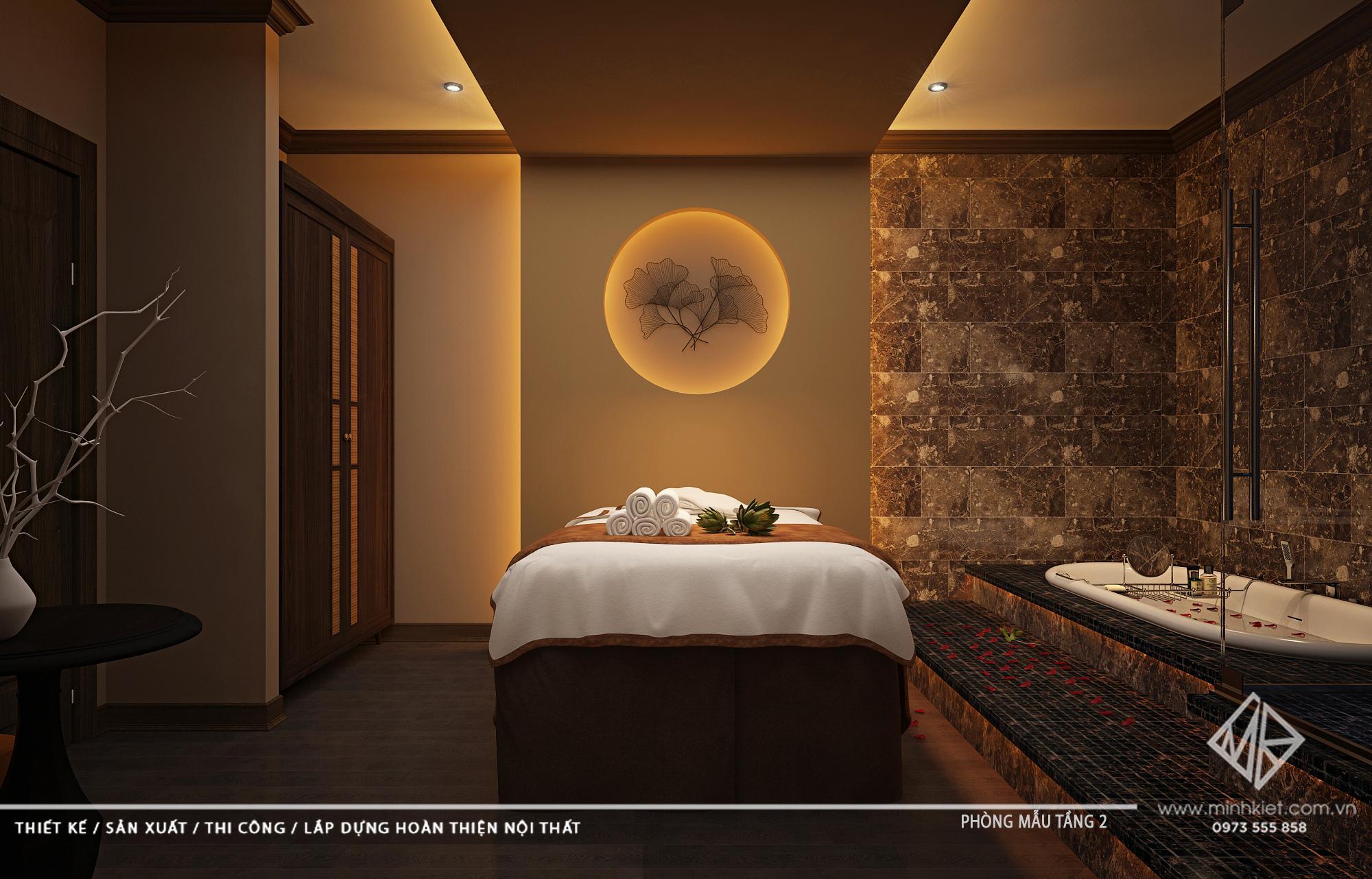 Thiết Kế Phòng Massage - Mẫu Thiết Kế Phòng Massage Spa Mini Vip