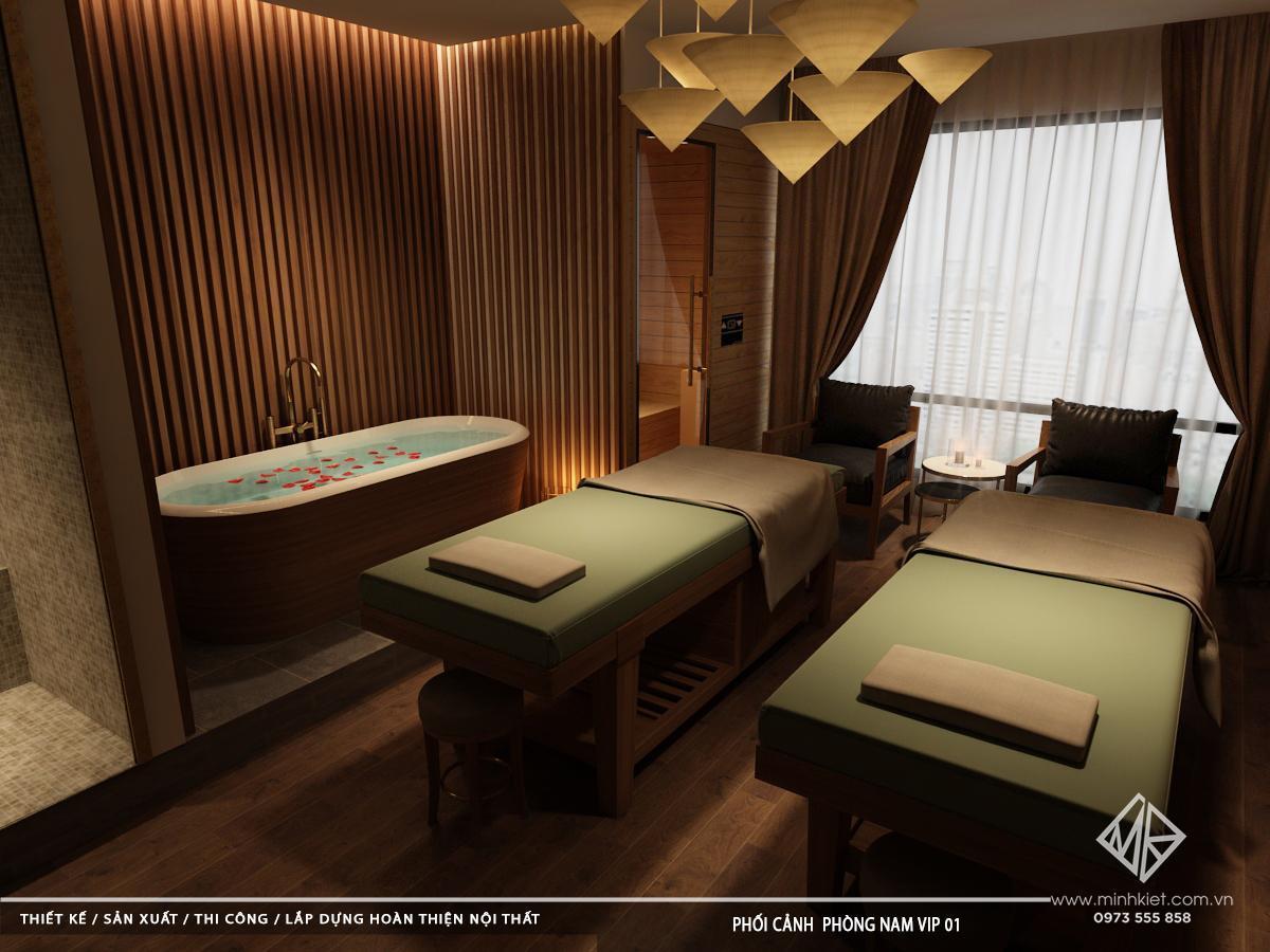 Thiết Kế Massage Ramanda - Mẫu Thiết Kế Phòng Massage Hiện Đại