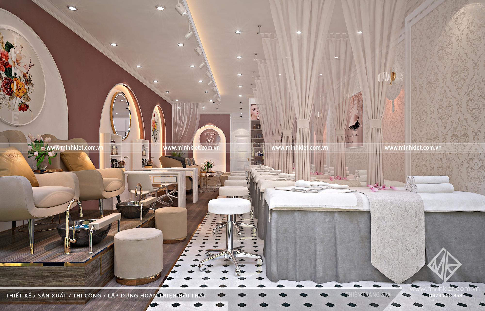 Thiết kế Spa Thiên Trang - Thiết Kế Nội Thất Spa Hiện Đại
