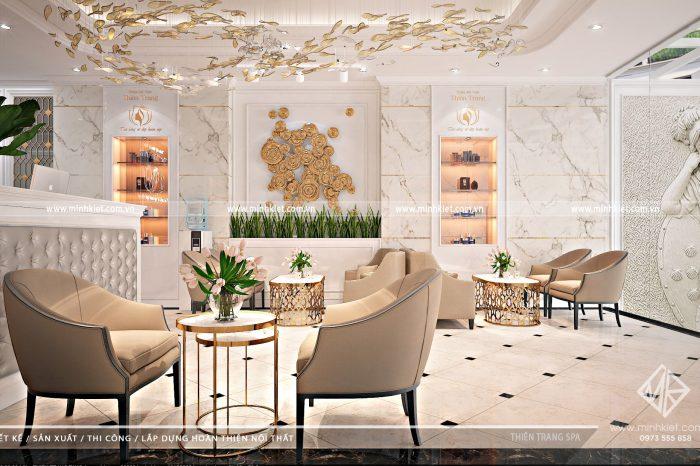Thiết Kế Sảnh Spa Thiên Trang - Mẫu thiết kế nội thất spa hiện đại