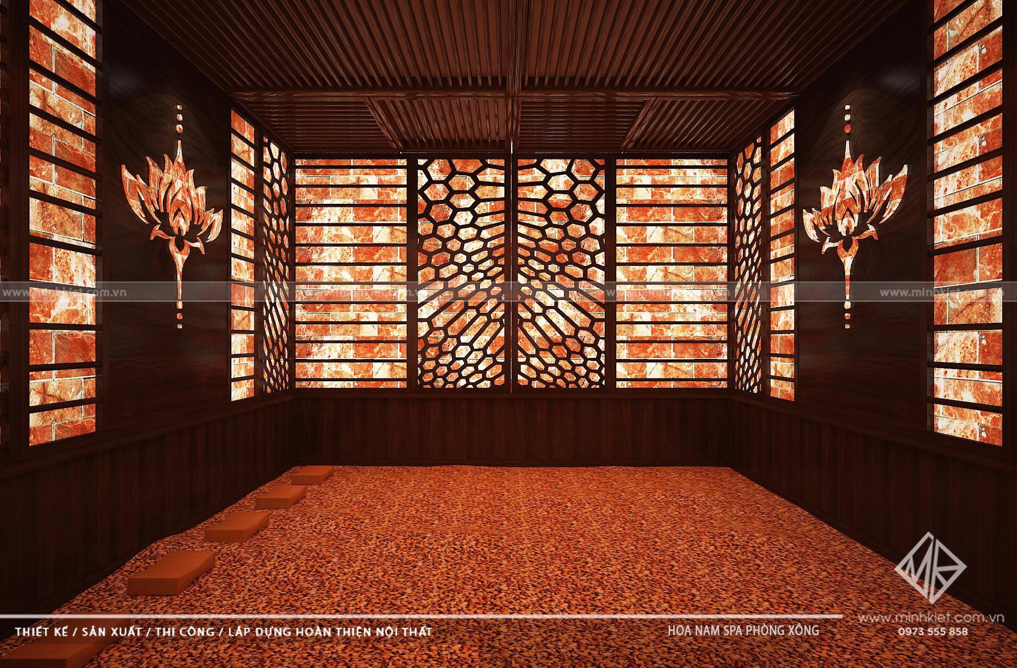 Thiết kế sảnh Massage Hoa Nam tây hồ hà nội